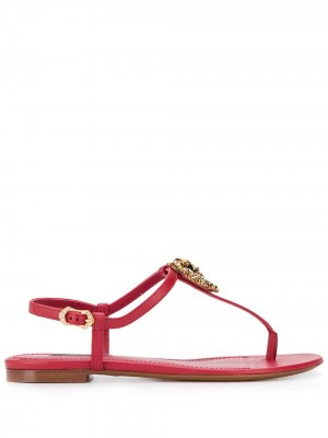 Сандалии Devotion Dolce & Gabbana. Цвет: красный