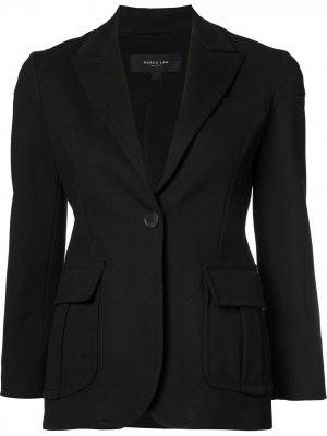 Пиджак с застежкой на одну пуговицу Derek Lam. Цвет: черный