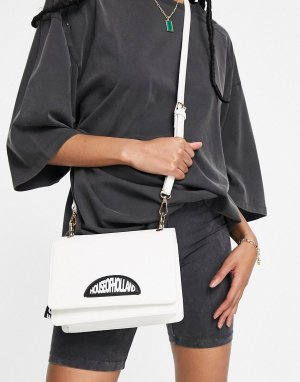 Черно-белая сумка через плечо с логотипом -Белый House of Holland