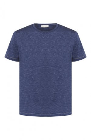Хлопковая футболка Bilancioni. Цвет: синий