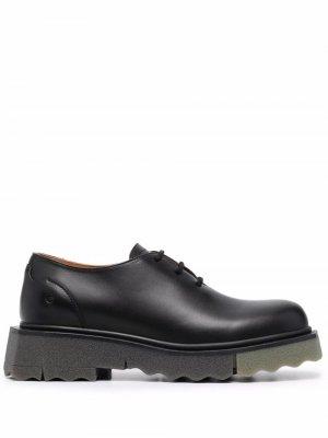 Туфли на шнуровке Off-White. Цвет: черный