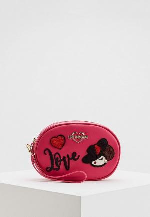 Сумка поясная Love Moschino. Цвет: розовый