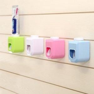 1шт настенная соковыжималка для зубной пасты случайного цвета SHEIN. Цвет: многоцветный