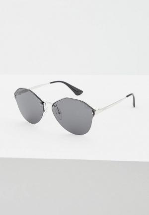 Очки солнцезащитные Prada PR 64TS 1BC5S0. Цвет: серебряный