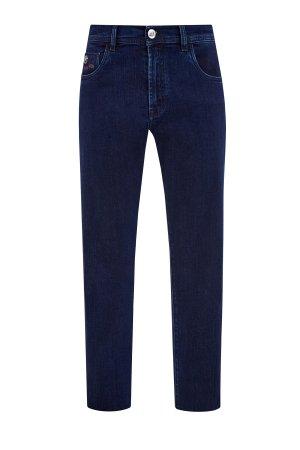 Классические джинсы прямого кроя Cesare с нашивкой из кожи SCISSOR SCRIPTOR. Цвет: синий