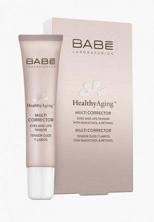 Крем для кожи вокруг глаз Babe Laboratorios и губ мультикорректор с атнивозрастным эффектом, 15 мл. Цвет: белый