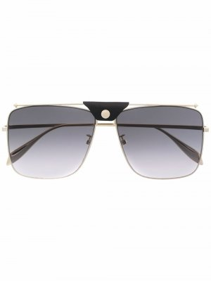 Солнцезащитные очки-авиаторы Alexander McQueen. Цвет: золотистый