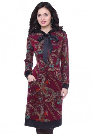 Платье Olivegrey AGILERA. Цвет: бордовый