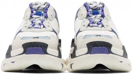White Triple S Sneakers Balenciaga. Цвет: 9095 w/b/v