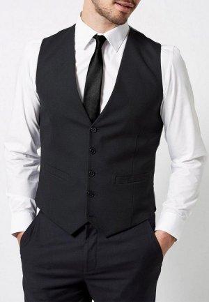Жилет Burton Menswear London. Цвет: черный