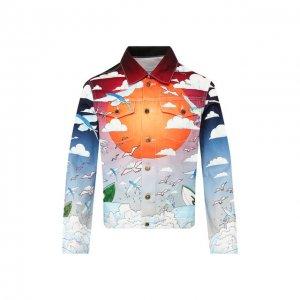 Джинсовая куртка Casablanca. Цвет: разноцветный