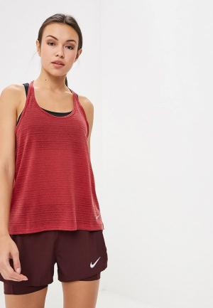 Майка спортивная Nike Womens Miler Running Tank. Цвет: бордовый