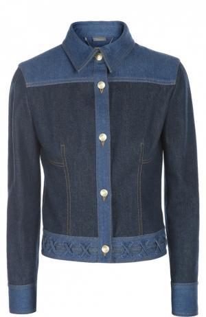 Куртка джинсовая Alexander McQueen. Цвет: синий