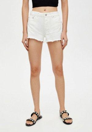 Шорты джинсовые Pull&Bear. Цвет: белый