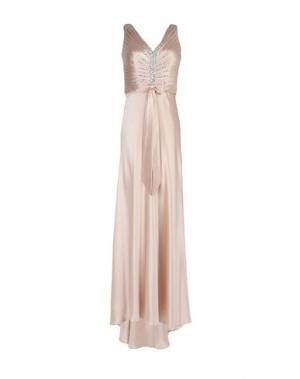 Длинное платье LEXUS. Цвет: песочный