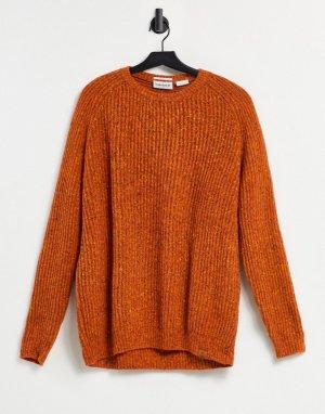 Джемпер из овечьей шерсти -Оранжевый цвет Timberland