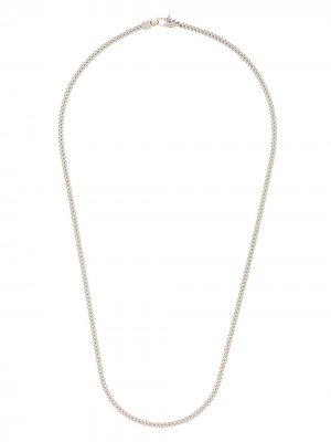Серебряная цепочка на шею Tom Wood. Цвет: серебристый