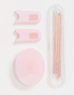 Набор для глубокого очищения -Розовый цвет Zoe Ayla