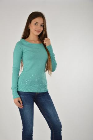 Пуловер Melrose. Цвет: бирюзовый