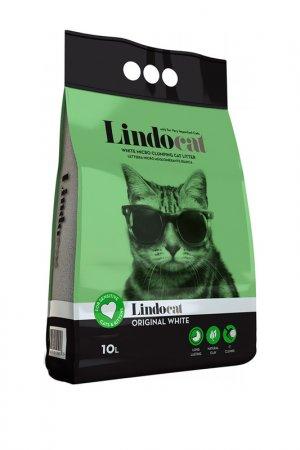 Наполнитель комкующийся 10 л LINDOCAT. Цвет: зеленый