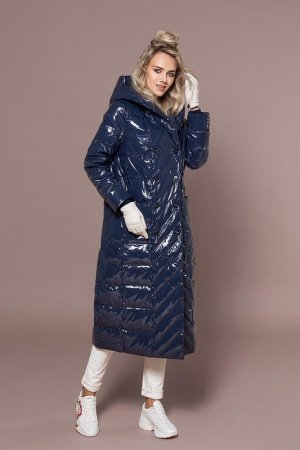 Пальто Naumi. Цвет: темно-синий