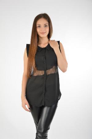 Блуза EXTASY. Цвет: черный