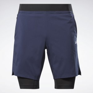 Спортивные шорты Running Epic Two-in-One Reebok. Цвет: vector navy