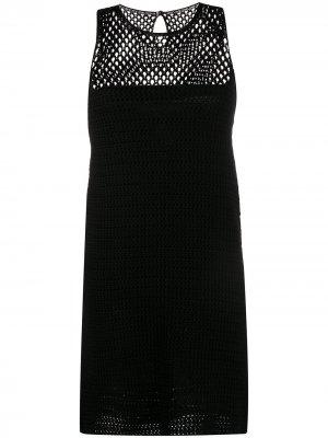 Трикотажное платье А-силуэта Prada Pre-Owned. Цвет: черный