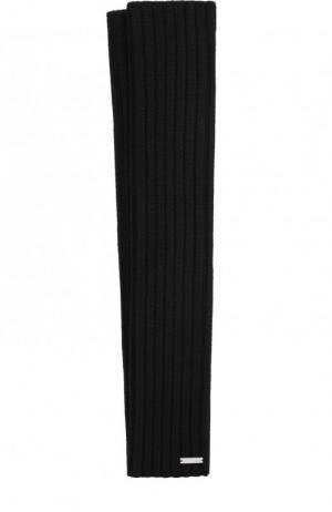 Удлиненные шерстяные митенки Dsquared2. Цвет: черный