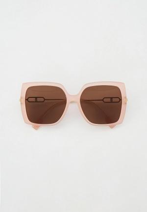 Очки солнцезащитные Burberry BE4332 387473. Цвет: розовый