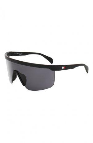 Солнцезащитные очки Tommy Hilfiger. Цвет: чёрный