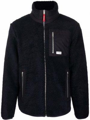 Bouclé zip-up jacket Fay. Цвет: синий