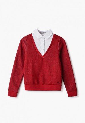 Пуловер Ladno. Цвет: красный