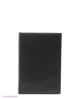 Обложка для паспорта Mano. Цвет: черный