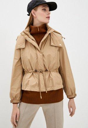 Куртка и жилет Weekend Max Mara GUELFI. Цвет: бежевый