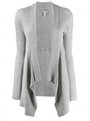 Кардиган асимметричного кроя в рубчик Autumn Cashmere. Цвет: серый