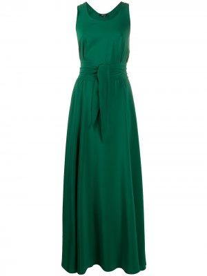 Платье с завязками на талии Aspesi. Цвет: зеленый