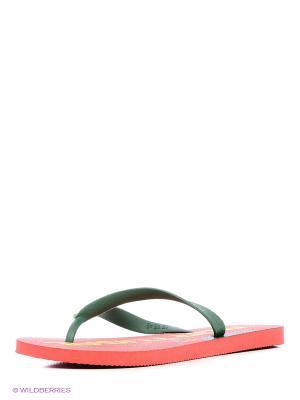 Шлепанцы DUPE. Цвет: красный