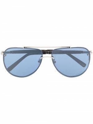 Солнцезащитные очки-авиаторы Chopard Eyewear. Цвет: серый
