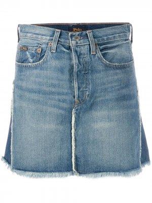 Джинсовая юбка Polo Ralph Lauren. Цвет: синий