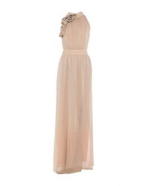 Длинное платье ATOS LOMBARDINI. Цвет: бежевый