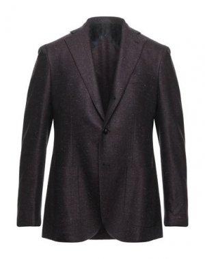 Пиджак BARBA Napoli. Цвет: баклажанный