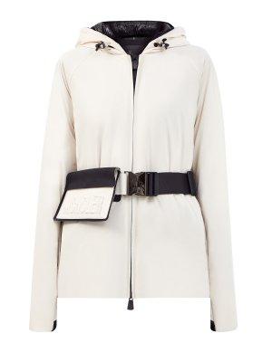 Лыжная куртка Valpelline из водонепроницаемого эластичного поплина MONCLER. Цвет: белый