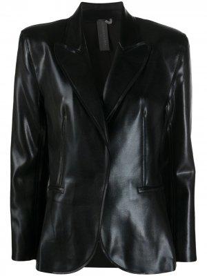 Приталенный блейзер Norma Kamali. Цвет: черный