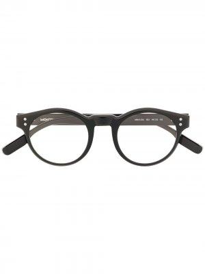 Очки с накладками на линзы Montblanc. Цвет: черный