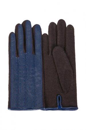 Перчатки Dali Exclusive. Цвет: коричневый, синий