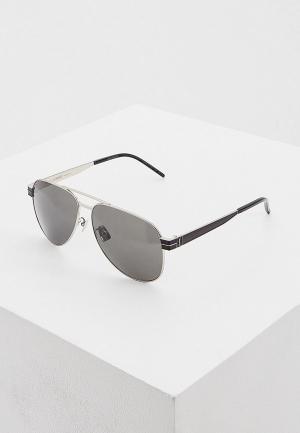 Очки солнцезащитные Saint Laurent SL M53 002. Цвет: черный