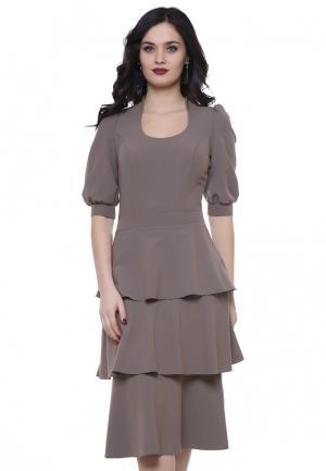 Платье Grey Cat FRANKY. Цвет: коричневый