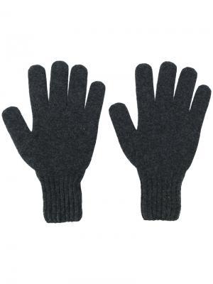 Перчатки с ребристыми манжетами Drumohr. Цвет: серый