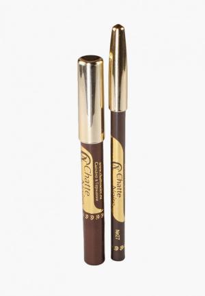 Набор для макияжа глаз Chatte Noire Карандаш + Карандаш-тени №52, 5,75. Цвет: коричневый